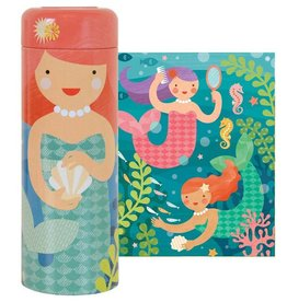 Petit Collage Playful Mermaids 64-Piece Tin Puzzle