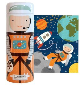 Petit Collage Into Space 64-Piece Tin Canister Puzzle