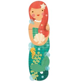 Petit Collage Little Miss Mermaid Folding Growth Chart