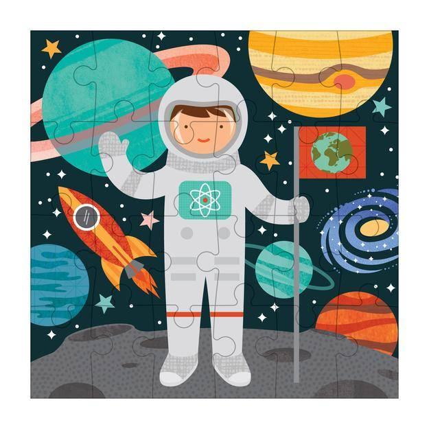 Petit Collage Astronaut Petit Puzzle