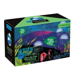 Mudpuppy Under The Sea Glow In The Dark Puzzle 100pc