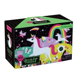 Mudpuppy Unicorn Glow In The Dark 100pc Puzzle
