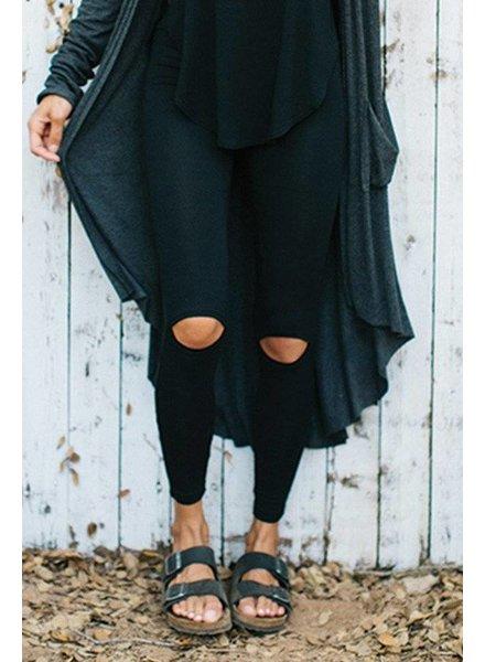Joah Brown Cut Loose Black Leggings