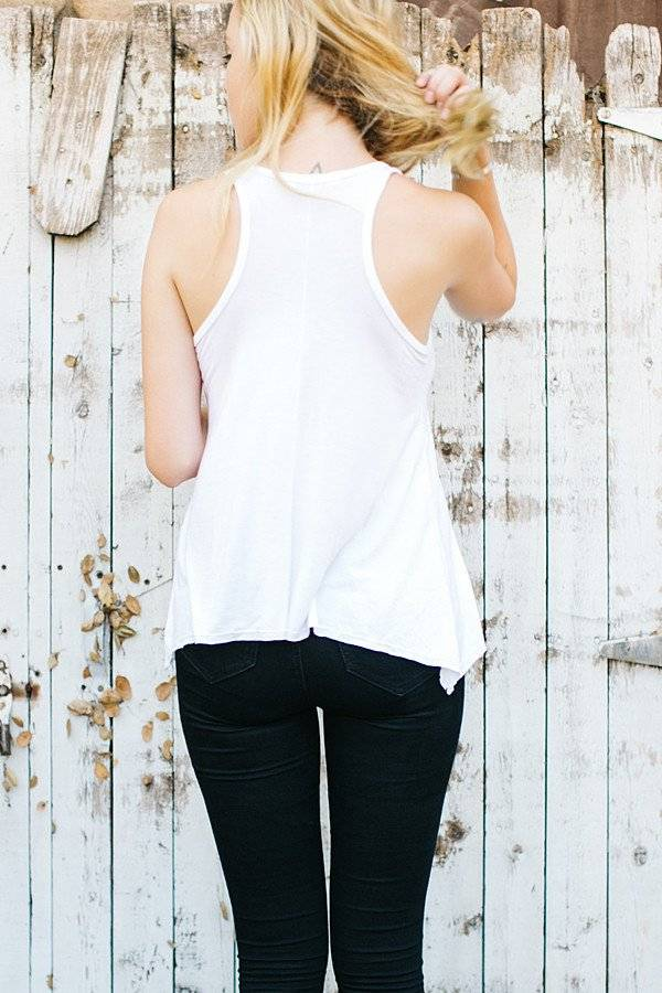 Joah Brown Perfect Shape Tank White