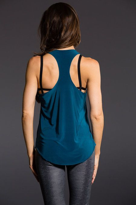 Onzie Glossy Flow Tank Teal OS