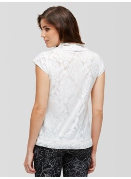 Peony Zip Up Lace Shirt