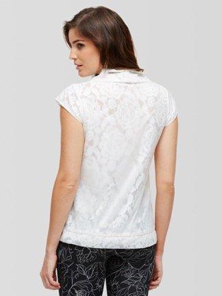 Peony Zip Up Lace Shirt