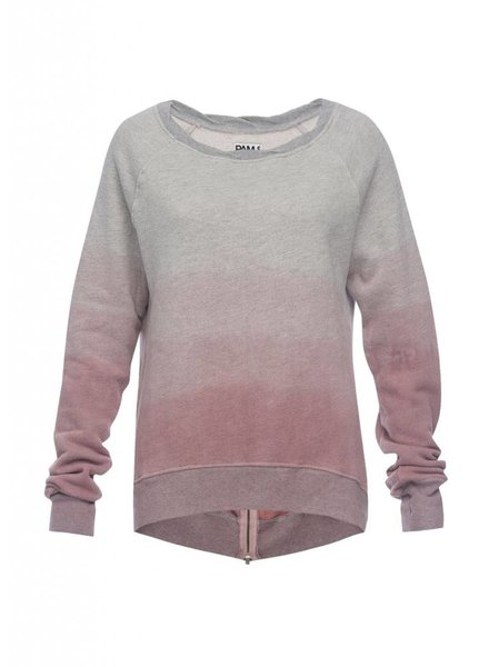 Pam and Gela Annie Hi Low Mauve Sweatshirt