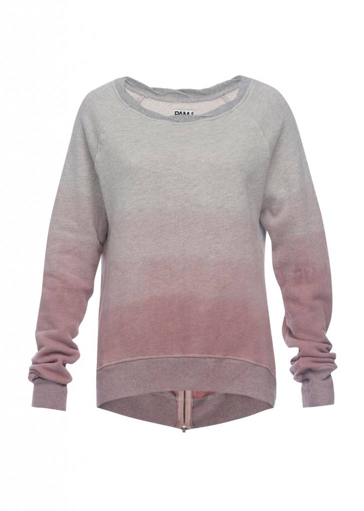 Pam and Gela Hi Low Mauve Sweatshirt