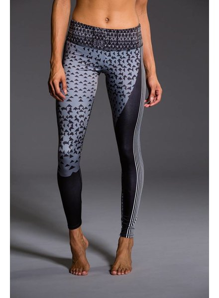 Onzie Graphic Legging Blocked Angles