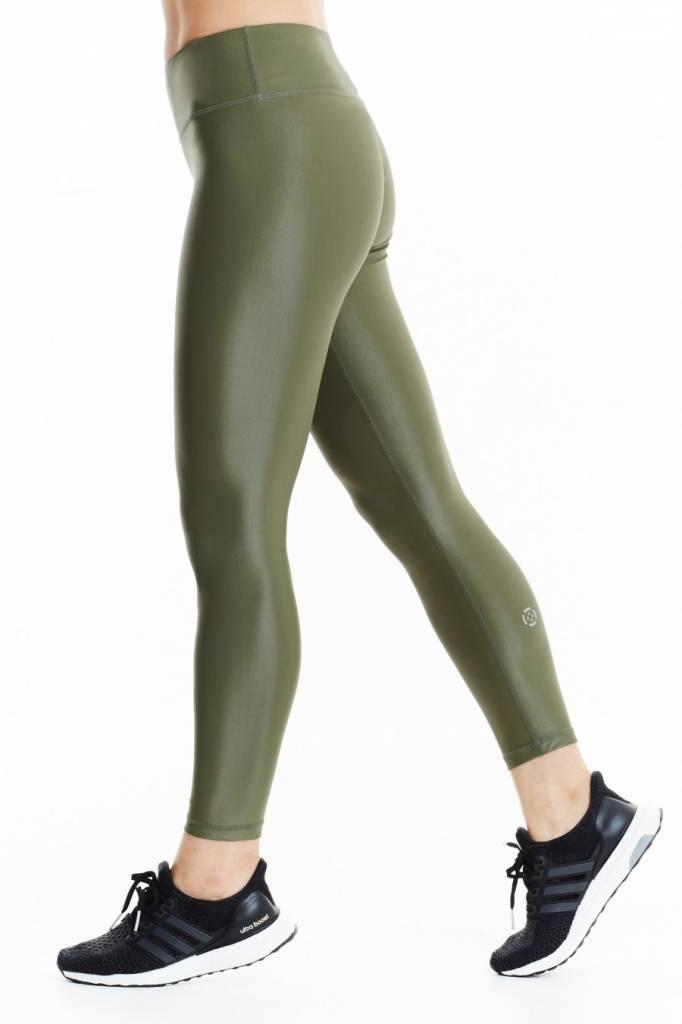 XO Active Rogue 7/8 Wetlook Olive Legging