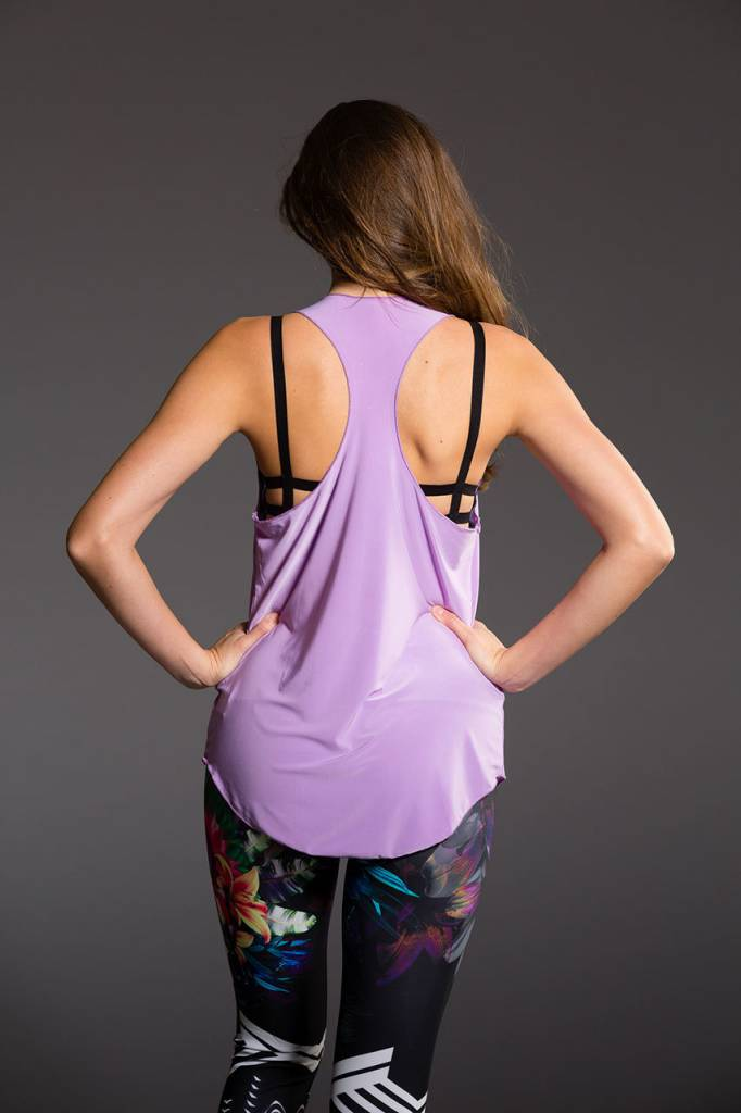 Onzie Glossy Flow Tank Lavender