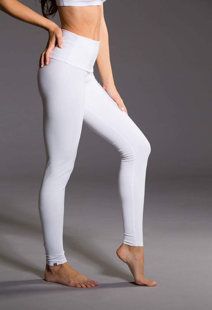 Onzie High Rise Legging White Snake