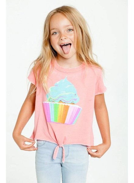 CHASER Rainbow Cupcake Girls Tee