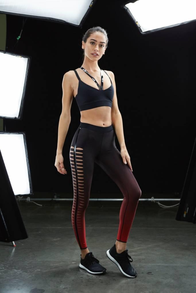 Ultra Cor Ultra Silk Slash Red Legging