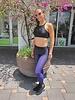 Ultra Silk Pixelate Purple Legging