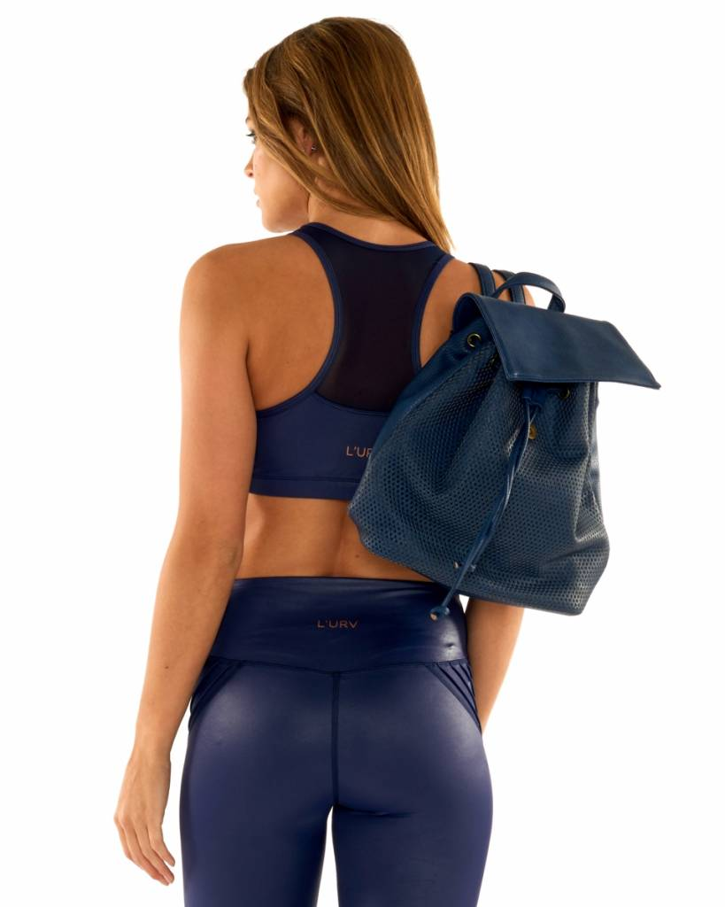 Leather Lust Crop Navy