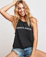 Spiritual Gangster Namaste Beaches Crop Tank