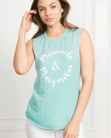 Tyler Jacobs Cut Off Mermaid & Margarita Tank