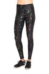Rainbow Splatter Foil Legging