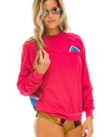 Aviator Nation Rose Mountain Stripe Sweater