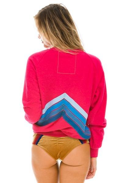 Aviator Nation Rose Mountain Stripe Sweater
