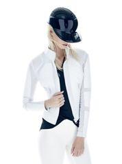 Blanc Noir White Moto Jacket