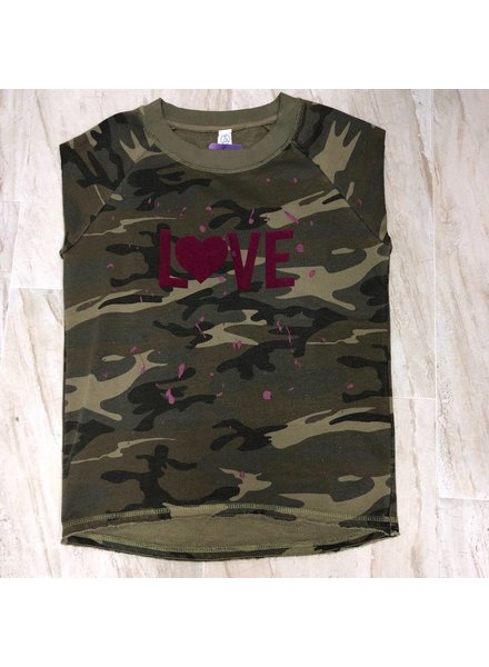 Bling It 4 Me Camo Love Sweatshirt Amyspin