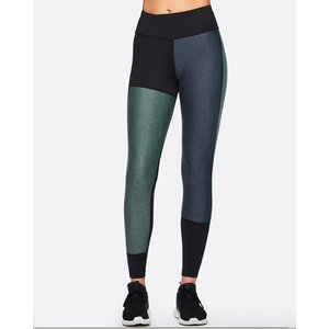 Alala Black Moss Heather Patchwork Tight