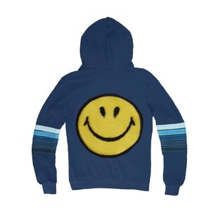 Aviator Nation Smiley Patch Zip Hoodie