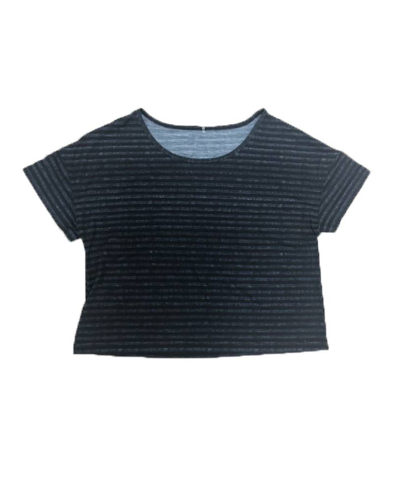 WITH Black Bweave Cropped Tee