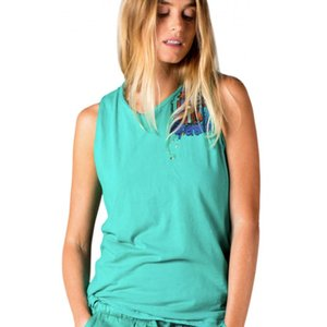 Free City Supershop Doodle Sleeveless T-Shirt Green Light