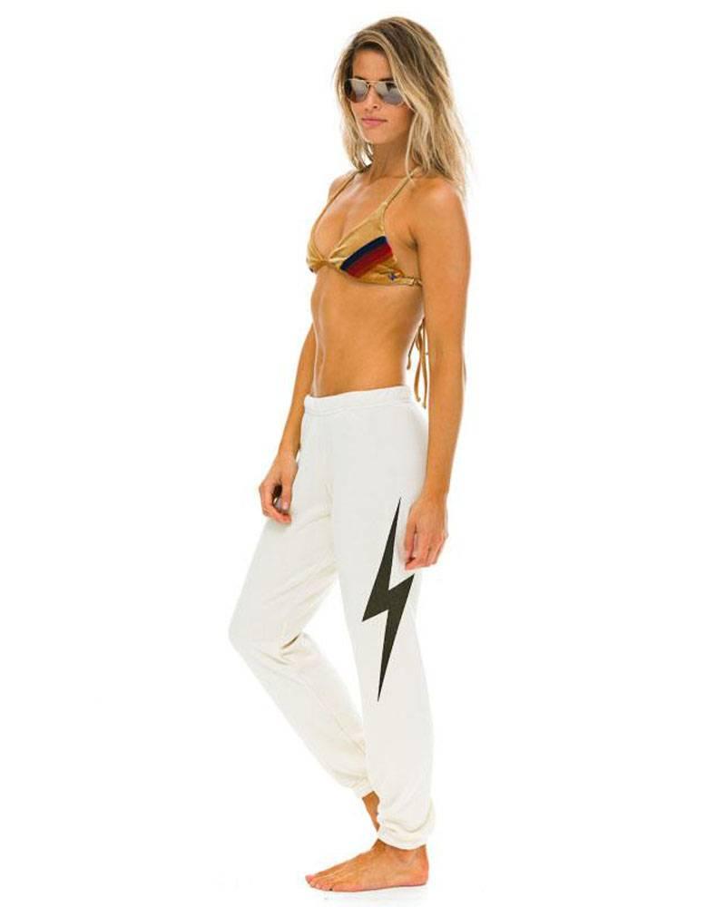 Aviator Nation Bolt Sweatpants Vintage White