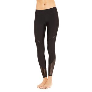 Terez Black Striped Cuff Tall Band Leggings