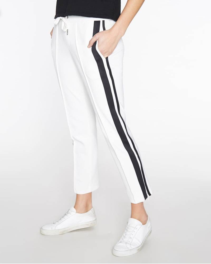 Pam and Gela Cropped Track Pant w/ Sportstripe