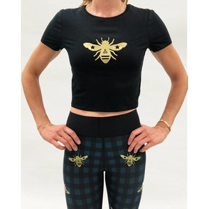 Ultracor Bee Crop Tee Nero Gold