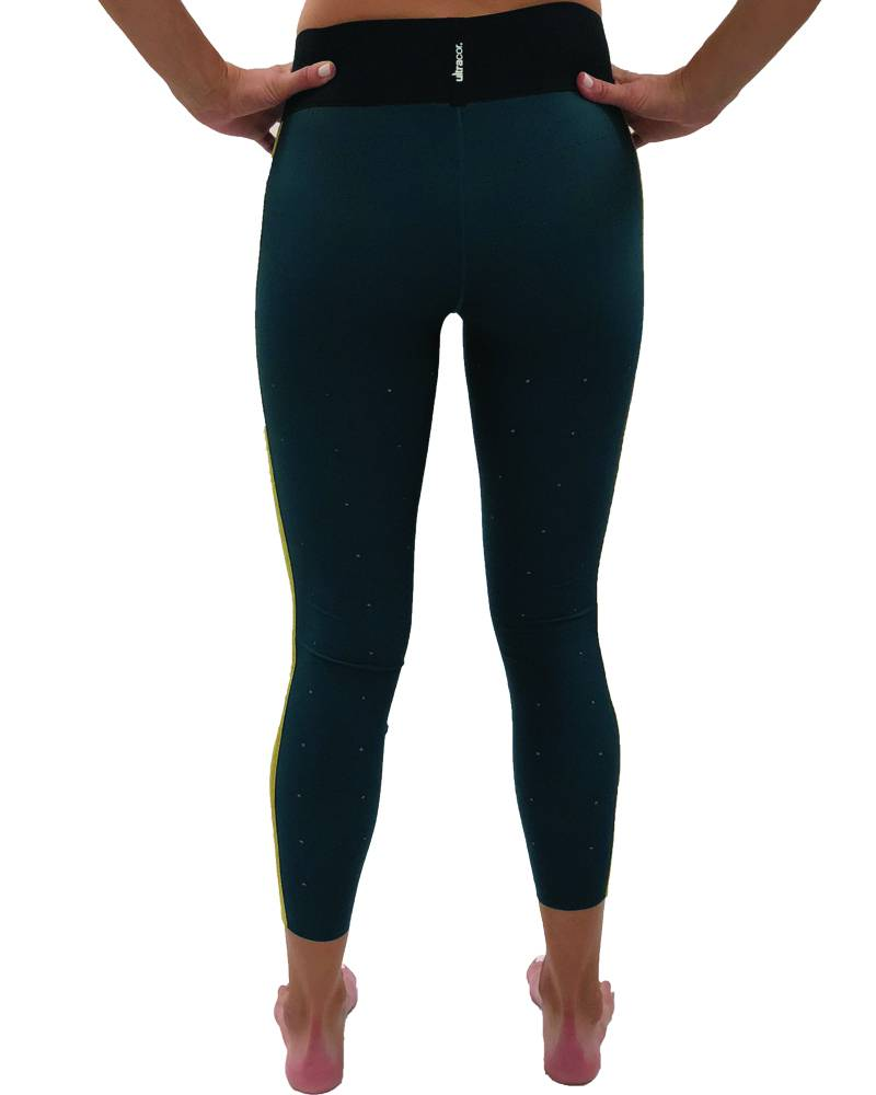 Ultracor Sprinter High Teal Quiltline Legging