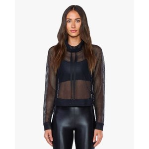 Koral Pump Open Mesh Pullover - Black
