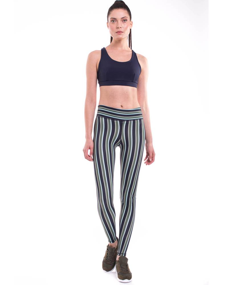9.2.5 The Right Track - Navy Stripes Legging