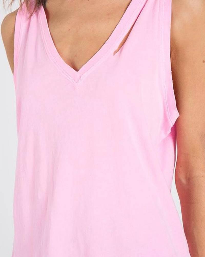 Philanthropy Pepper V-neck Neon Pink