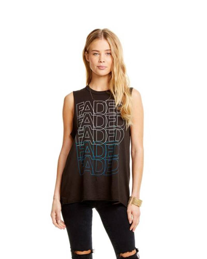 CHASER Side Slit Muscle Black Faded