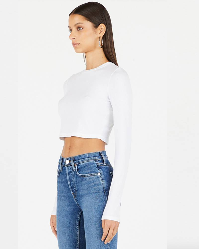 Cotton Citizen Venice Crop Shirt White