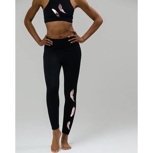 Onzie Onzie Rose Gold Feather Foil Midi Legging