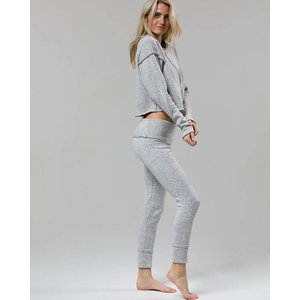 Onzie Heather Gray Raw Seam Legging