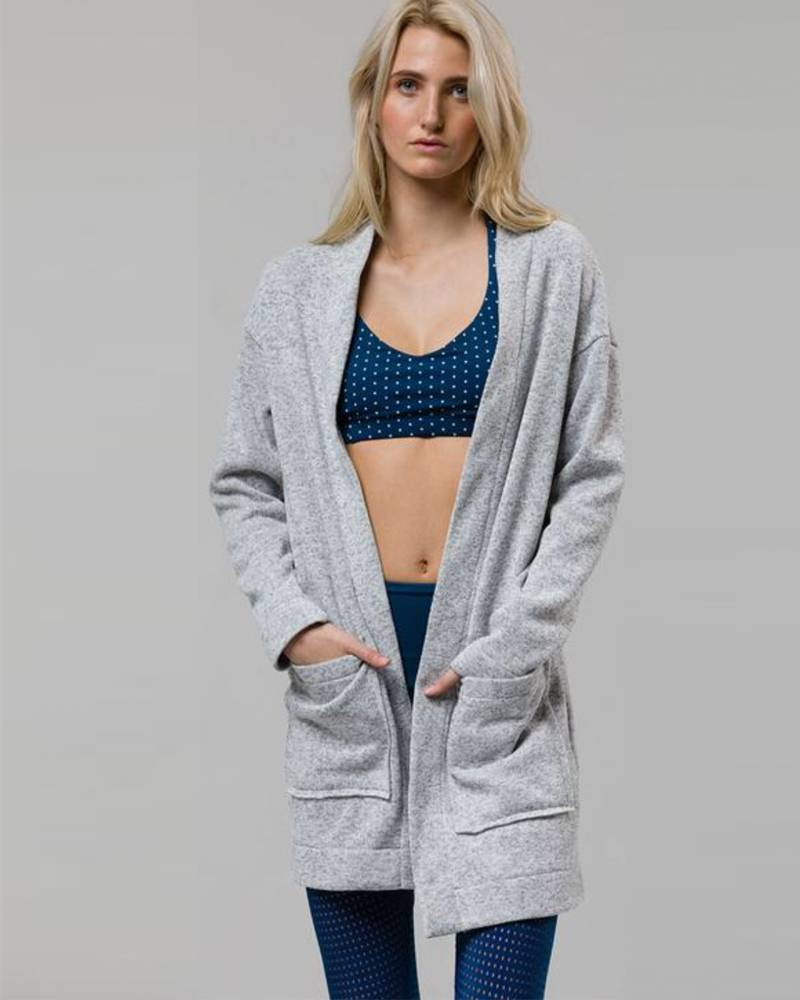 Onzie Heather Gray Long Cardigan