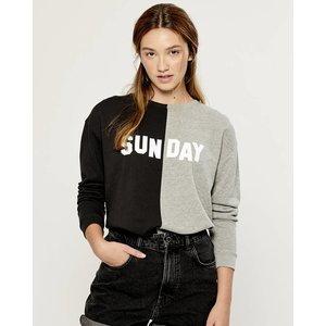 South Parade Sunday - Black and Gray Boyfriend Sweatshirt