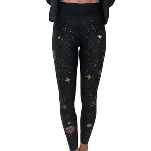 Ultracor Ultra High Galaxy Legging Nero Matte Gold