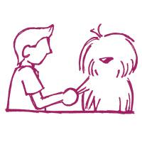 Étape 3 d'un démêlage facile pour chien et chat à poil long