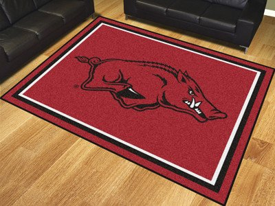 Arkansas Razorback 8 X 10 Plush Area Rug The Stadium