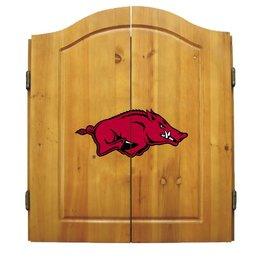 Imperial Arkansas Razorback Dart Cabinet Set